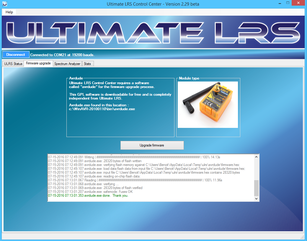 2016-07-15 07_13_07-Ultimate LRS Control Center - Version 2.29 beta